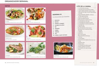 Libro de recetas bajas en calorías.